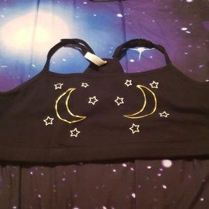 Torrid sports bra bralette size 3 stars and moon